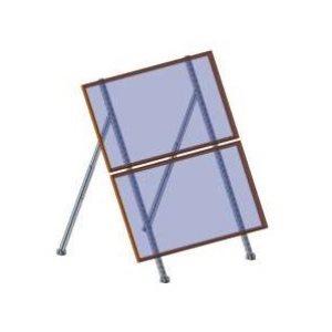 Support ajustable pour 2 panneaux solaires de 72 cellules et moins