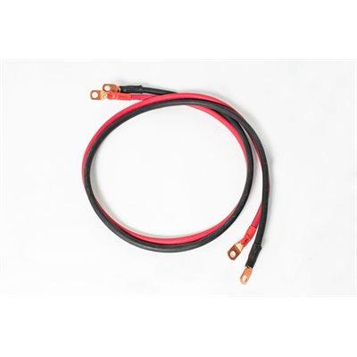 Câble d'interconnexion de batteries 12'' avec câble de calibre 4 et terminaux de 3 / 8.